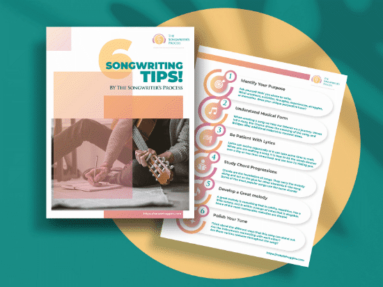 6 Songwriting Tips by the Songwriter's Process eBook download (teal)